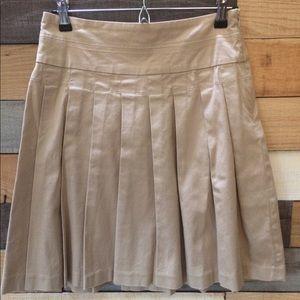 Old Navy Khaki Pleated Skirt, Sz 0